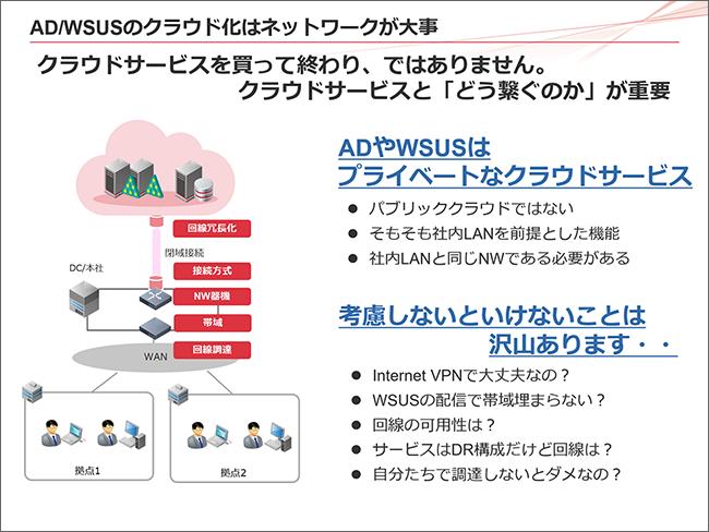 AD/WSUSのクラウド化はネットワークが大事