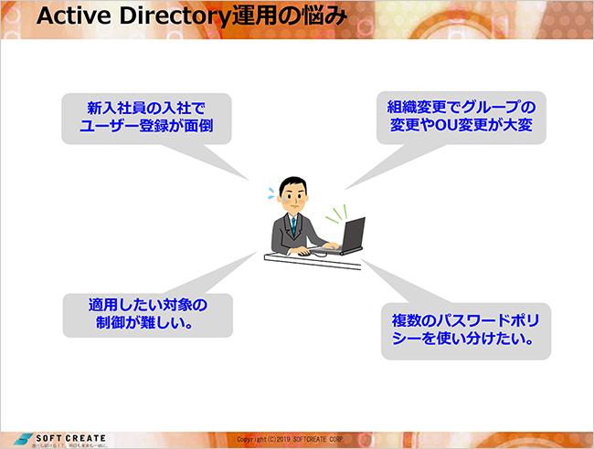 Active Directory運用の悩み