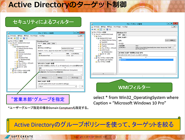 Active Directoryのターゲット制御